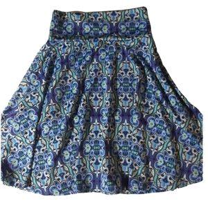 New girls blue slinky Lula Roe flow skirt sz 4